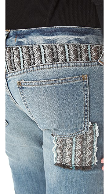 Free People Patched Skinny Jeans