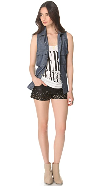 Free People Studder Rocker Shorts