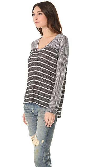 Free People Hang Ten Long Sleeve Top