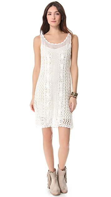 Free People Crochet Slip Dress