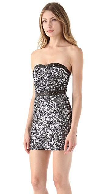 Free People Beads & Leather Body Con Dress
