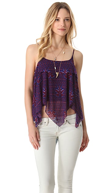 Free People Printed Dew Drop Tank