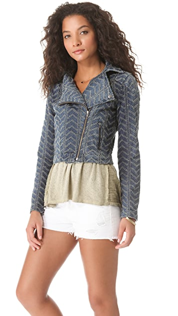 Free People Punched Moto Jacket
