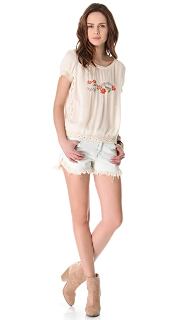 Free People Dolphin Cutoff Shorts