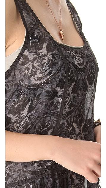Free People Printed Slip Dress