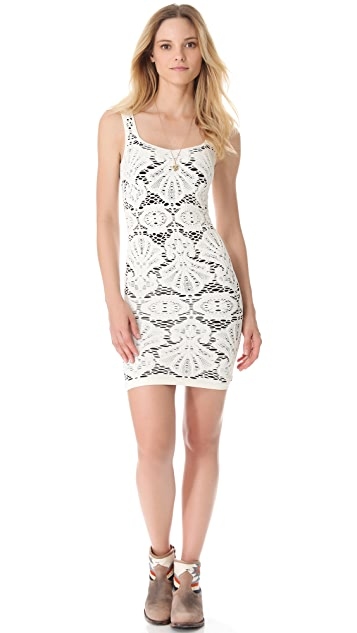Free People Seamless Medallion Slip Dress