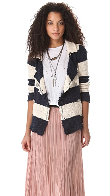 Free People Cotton Slub Jacket