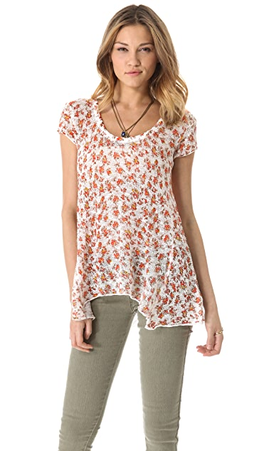 Free People Ditsy Tee