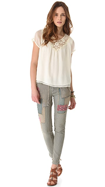 Free People Railroad Patched Pants