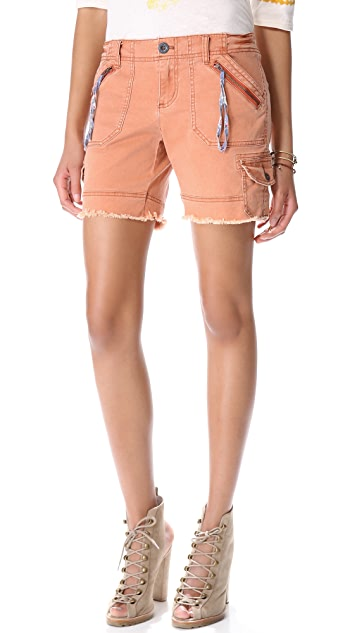 Free People Longer Cargo Shorts