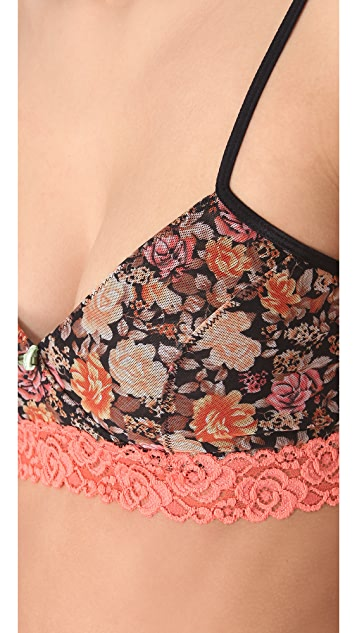 Free People Floral Surplice Bra