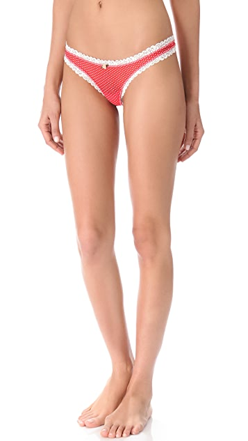 Free People Polka Dot Thong