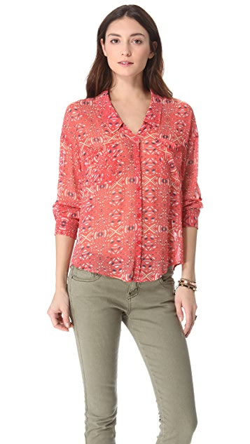 Free People Easy Rider Blouse