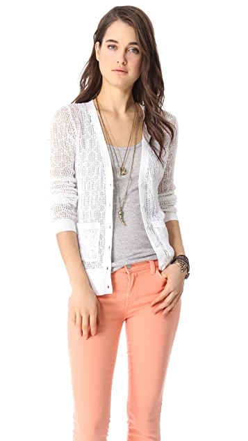 Free People Curley Diamonds Cardigan