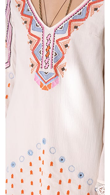 Free People Angel Wings Embroidered Dress