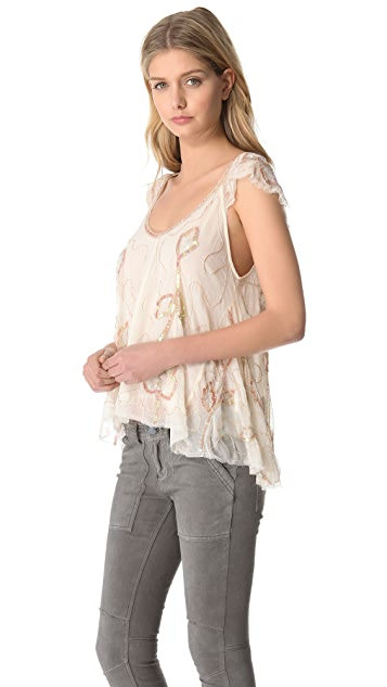 Free People Tritan's Treasure Woven Top
