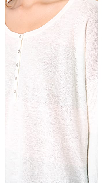Free People Gold Rush Henley Top