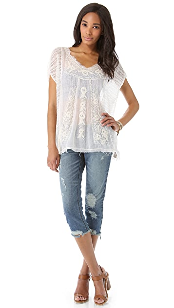 Free People Roses & Thread Tee