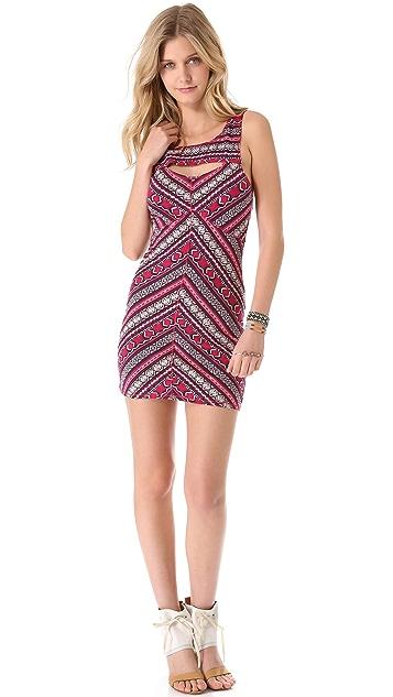 Free People Cutout Body Con Slip Dress