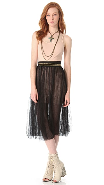 Free People Raw Tulle Skirt