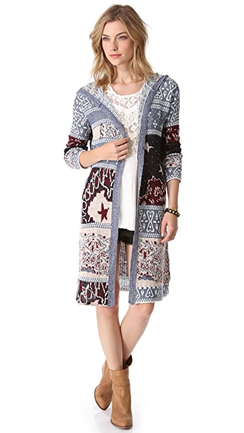 Free People Bandana Cardigan