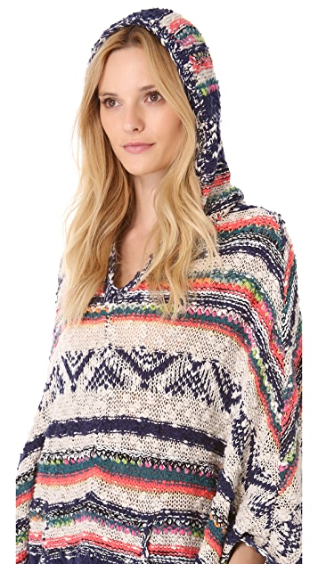 Free People Bubble Tea Poncho
