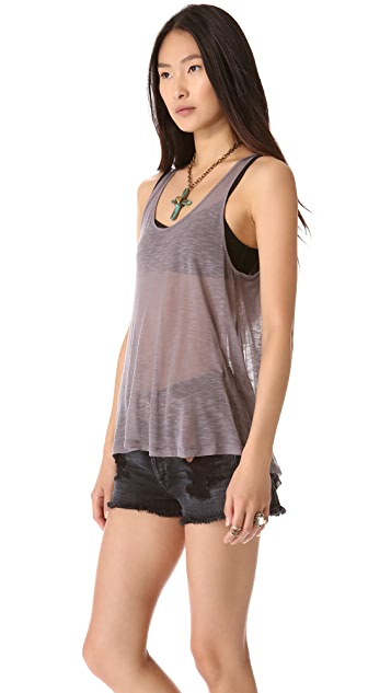 Free People Lacy Back Godet Camisole