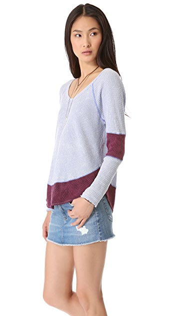 Free People Diamond Dozen Thermal Top