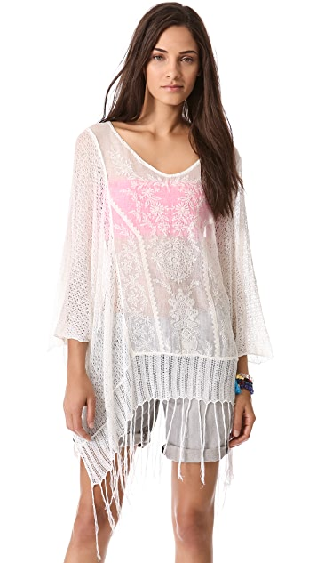 Free People Dancing with Flowers Caftan
