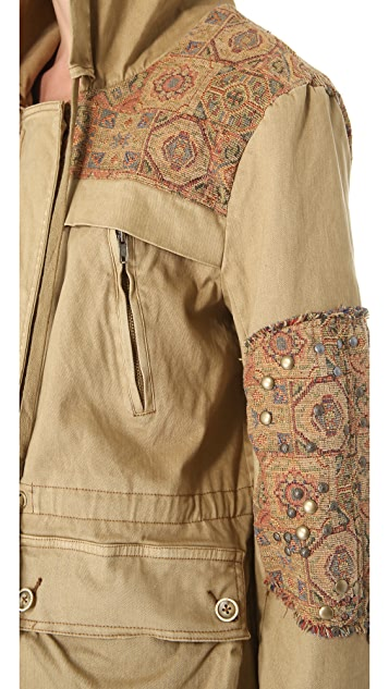 Free People Tapestry Pieced Parka