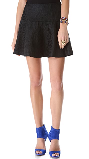 Free People Chenille Cheetah Skirt