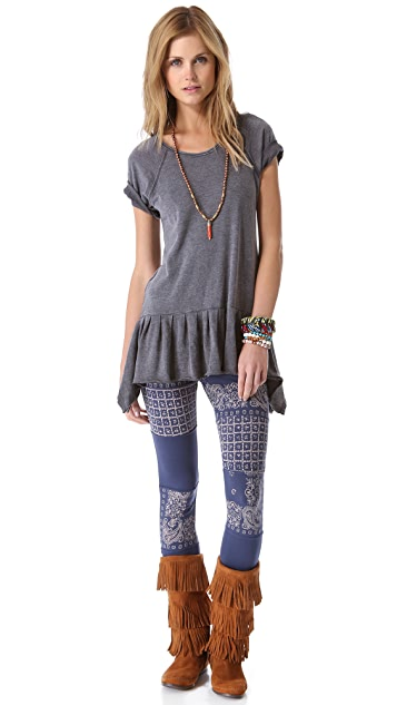 Free People Bandana Print Leggings