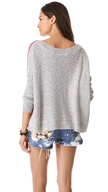 Free People Flag Sweater