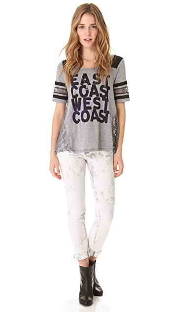 Free People Surfer Football Tee