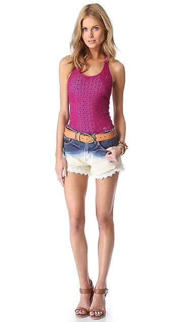 Free People Dip Dye Lacey Shorts