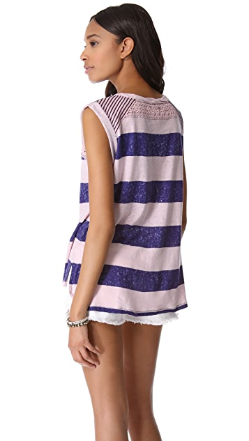 Free People Pieced Top