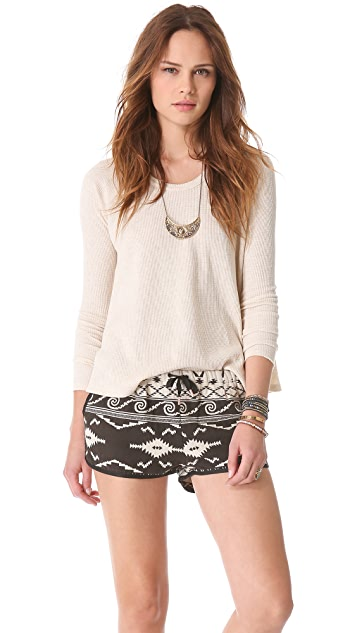 Free People Rockabilly Raglan Top
