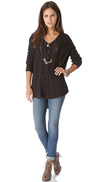 Free People Cross My Heart Pullover