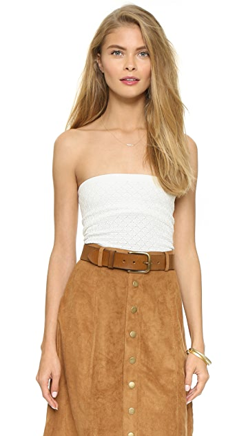 Free People Seamless Diamond Textured Tube Top