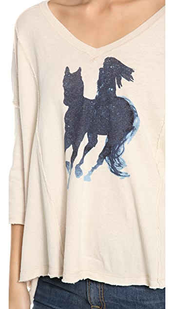 Free People Swingy Graphic Tee