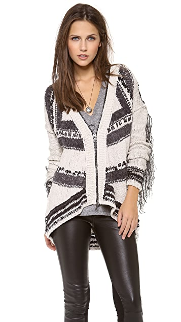 Free People Show Me the Way Fringe Cardigan