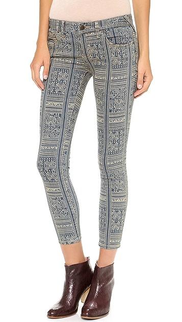 Free People Batik Ankle Skinny Jeans