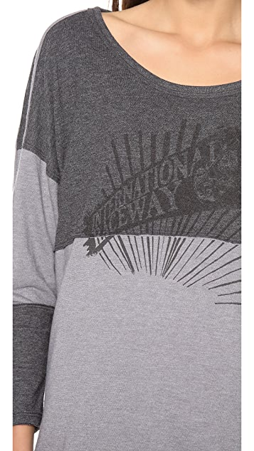 Free People Ski Stripe Graphic Tee