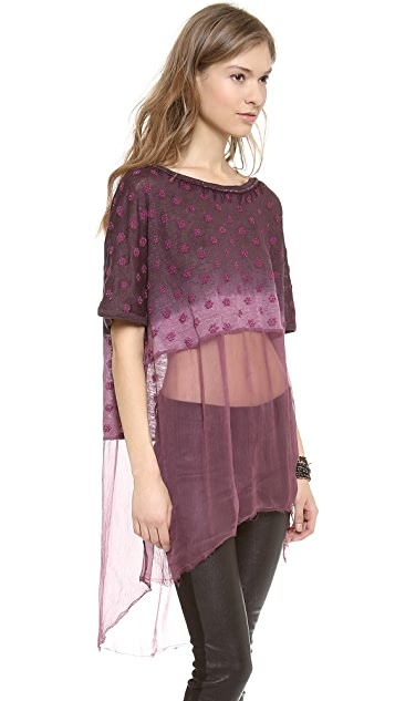 Free People Diamond Dip Dye Tunic