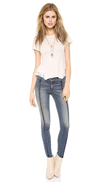 Free People Tulip Lace Tee
