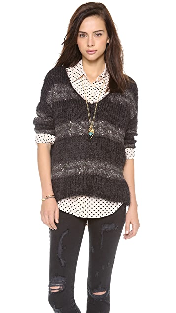 Free People Linus Stripe Pullover