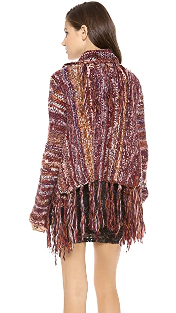 Free People Fringe Cardigan
