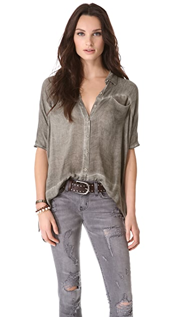 Free People Boxy Woven Shirt