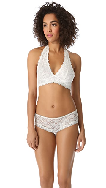 Free People Lace Halter Bra