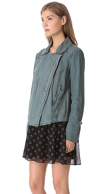 Free People Rumpled Linen Jacket